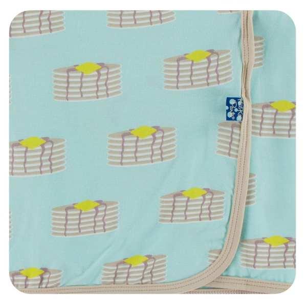KicKee Pants Summer Sky Pancakes Swaddle Blanket