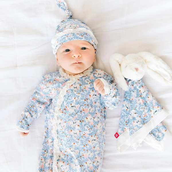 Magnetic Me Somebunny Floral Magnetic Sack Gown and Hat Set