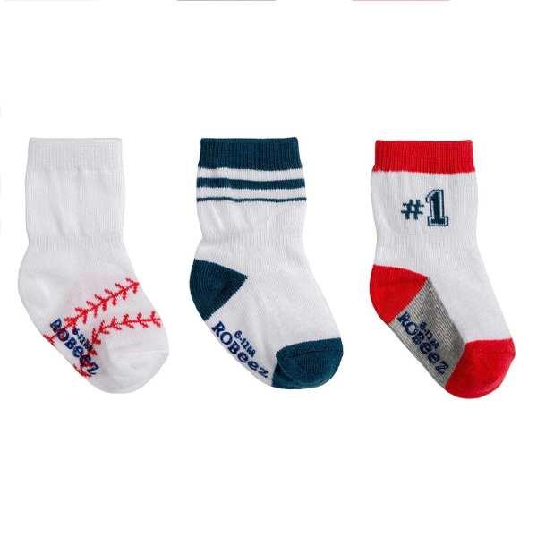 Robeez Baseball Socks 3-Pack