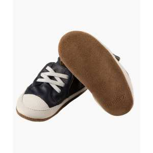 Robeez Soft Soles - Corey Navy Leather