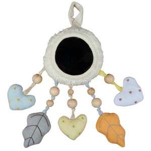 Tikiri Bahbah the Lamb Baby Mobile with Fabric Hearts