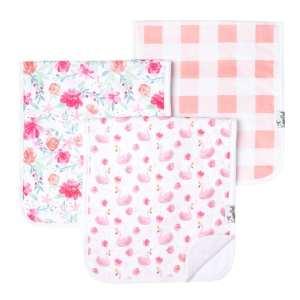 Copper Pearl June Burp Cloth 3-Pack