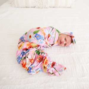 Posh Peanut Kaileigh Swaddle and Headwrap Set
