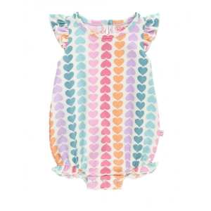 RuffleButts Rainbow Hearts Flutter Bodysuit