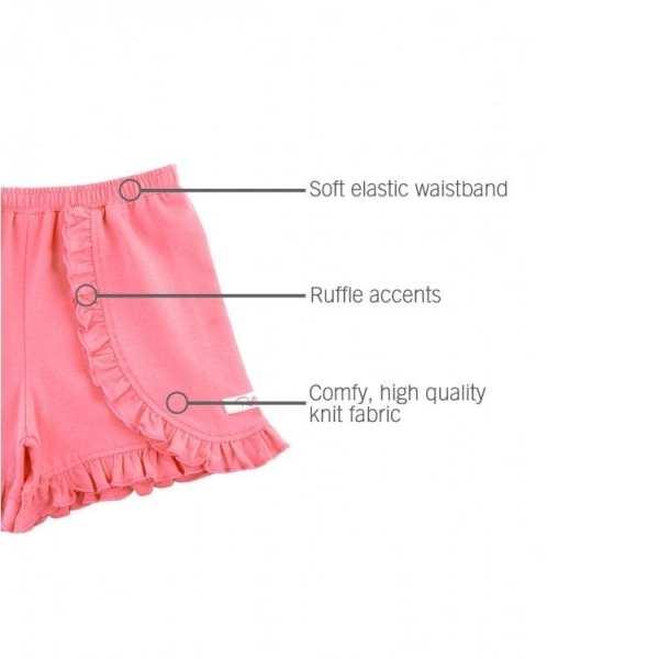 RuffleButts Rose Ruffle Shorts