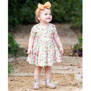 RuffleButts Spring Fling Twirl Dress
