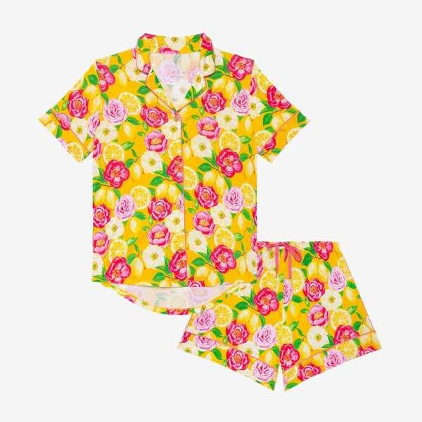 Posh Peanut Annika Women's Luxe Short Sleeve Shirt & Shorts Loungewear Set