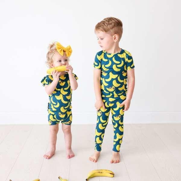 Posh Peanut Bananas Short Sleeve Basic Loungewear