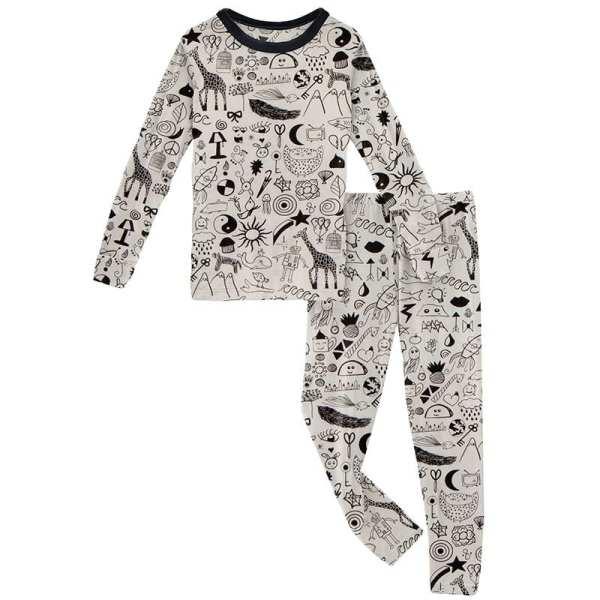 KicKee Pants Doodles Long Sleeve Pajama Set