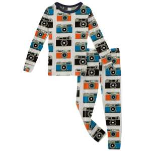 KicKee Pants Mom's Camera Long Sleeve Pajama Set
