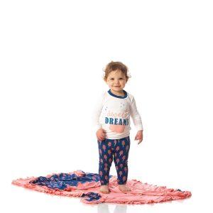 KicKee Pants Cotton Candy Long Sleeve Graphic Tee Pajama Set