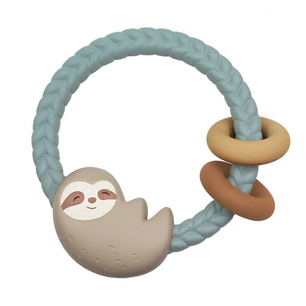 Itzy Ritzy Rattle Teether - Sloth