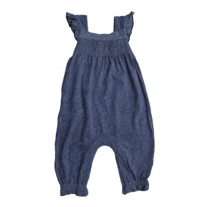 Angel Dear Denim Smocked Front Coverall