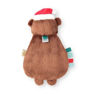 Itzy Ritzy Lovey Holiday Bear Plush with Silicone Teether Toy