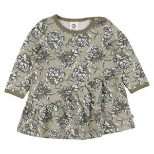 Müsli Boom Dress with Flowers - Chincilla