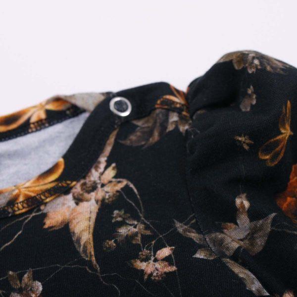 Müsli Poetry Dress with Puff Sleeves - Pesto