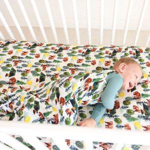 Posh Peanut Archer Crib Sheet