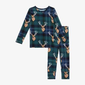 Posh Peanut Beckford Long Sleeve Basic Pajamas