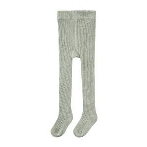 Rylee + Cru Rib Knit Solid Ribbed Tights - Agave