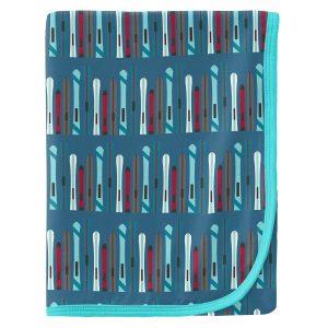 KicKee Pants Twilight Skis Print Swaddle Blanket