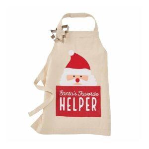 Mud Pie Apron/Cookie Cutter- Santa & Christmas Tree