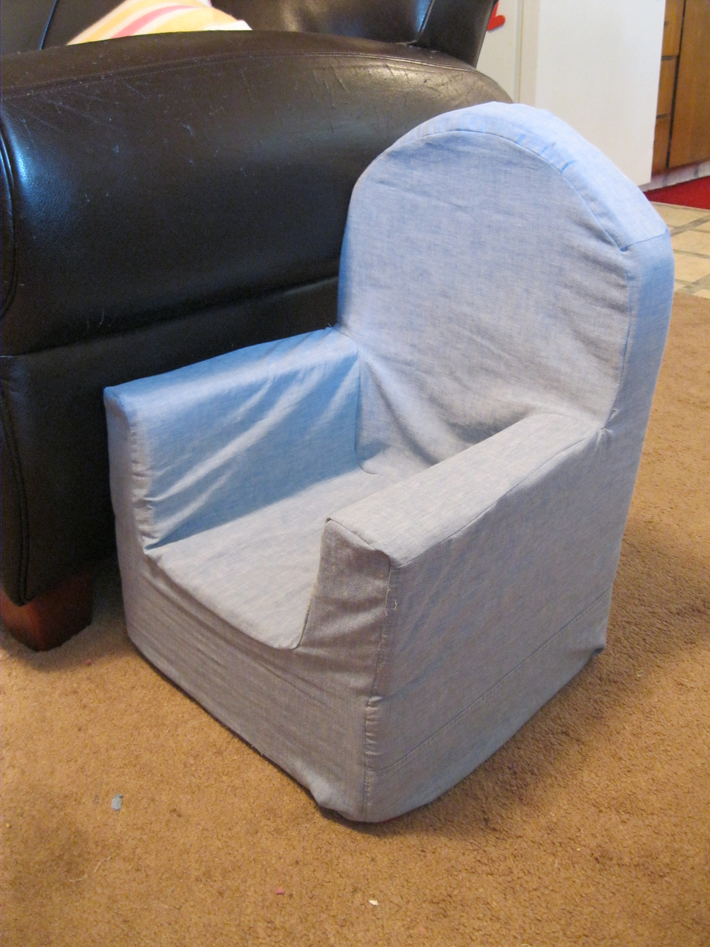 Toddler Foam Chair How To Recover A Kid 39s Foam Chair Peek A Boo Pages
