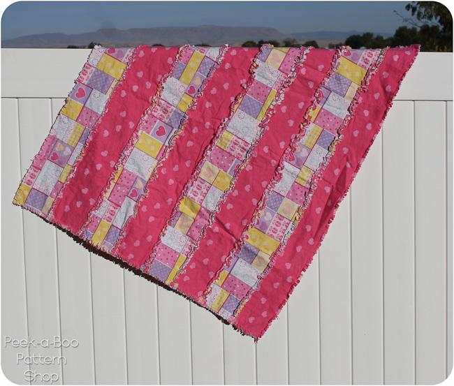 basic stripe rag quilt