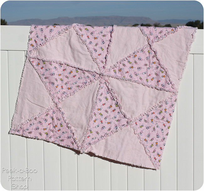triangle rag quilt