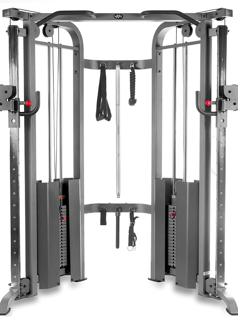 XMark Functional Trainer Cable Machine with Dual 200 lb Weight Stacks