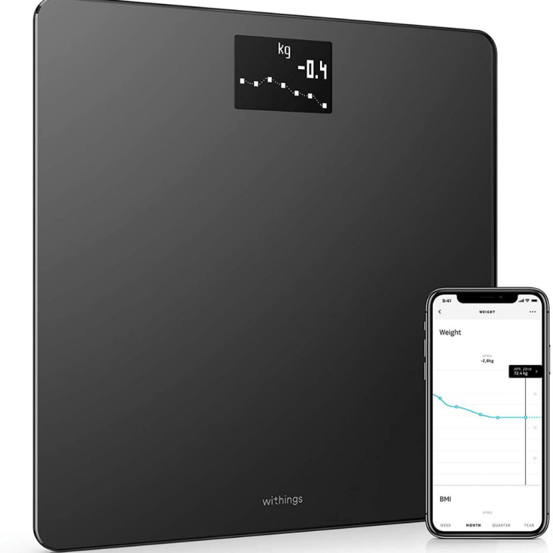 Fitness Gadgets - Withings Body - Smart Weight & BMI Wi-Fi Digital Scale with smartphone app