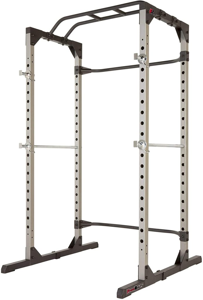 How To Build A Simplistic Home Gym Under 500 Dollars Fitness Reality 810XLT Super Max Power Cage with Optional Lat Pull-down Attachment and Adjustable Leg Hold-down