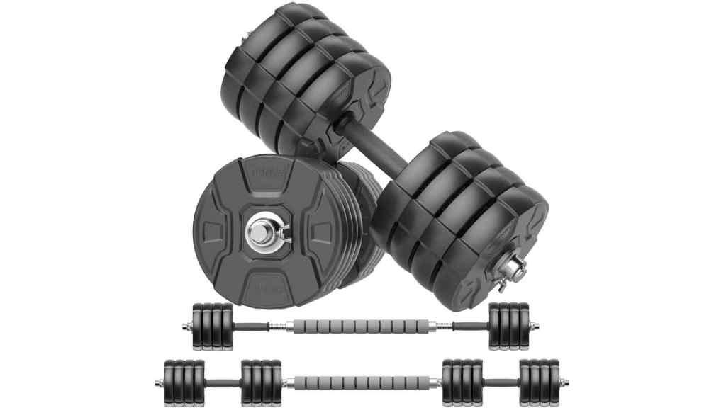 RUNWE Adjustable Dumbbells Barbell Set of 2, 40 50 70 90 100 lbs Free Weight Set