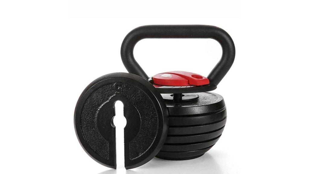 """Toughest Gains"" Adjustable Kettlebell - 10 - 40 lbs"