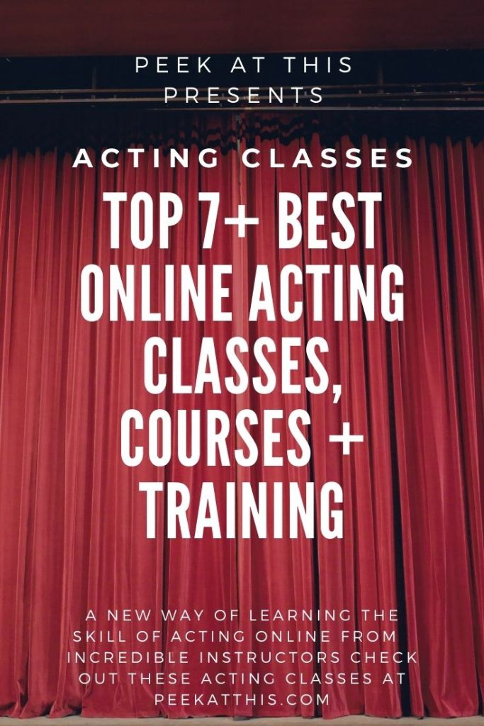 Top 7+ Best Online Acting Classes, Courses + Training