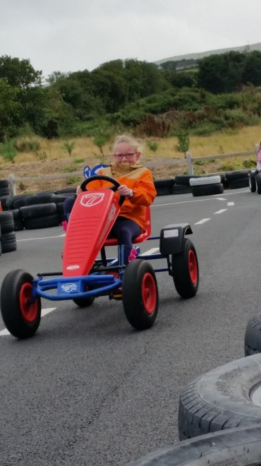 Go Cart racing in the rain