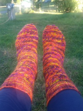 OMF Socks Cast Off!