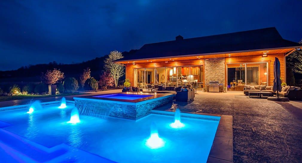 Nashville Custom Pool Design Outdoor Kitchens Pool Kings Peek Pools And Spas Nashville Tn