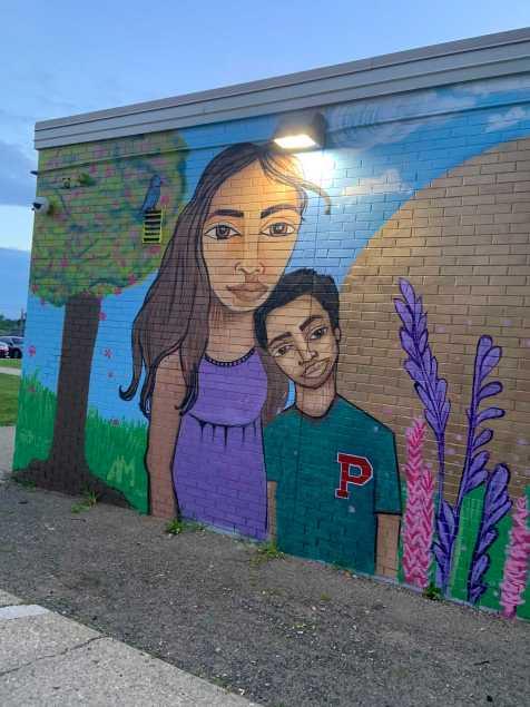 Mural far left