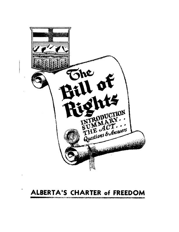 Peel 6817: Alberta. Legislative Assembly, The Bill of