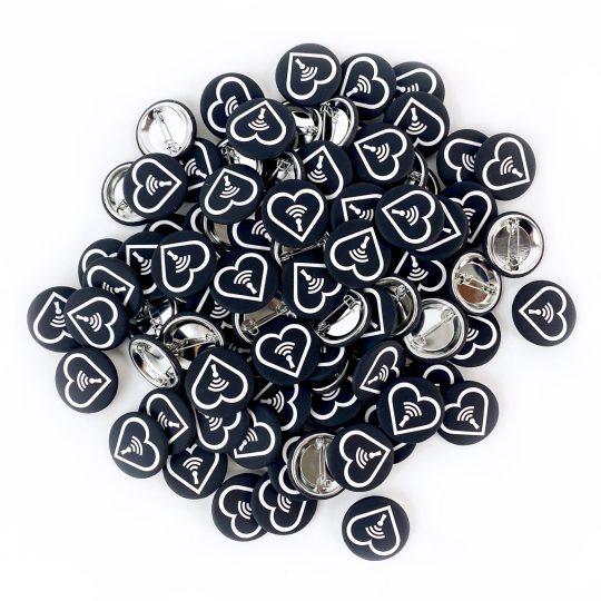 Peepshow Heart Buttons