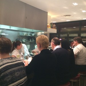 The dining room at Barrafina, Frith Street
