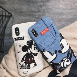 Peeps™ Cute Mickey Mouse Jeans Pocket case