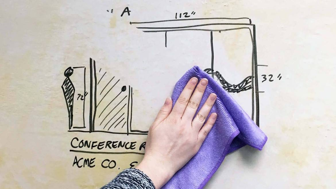 A Non-Ghosting Dry-Erase Surface You Can Rely On