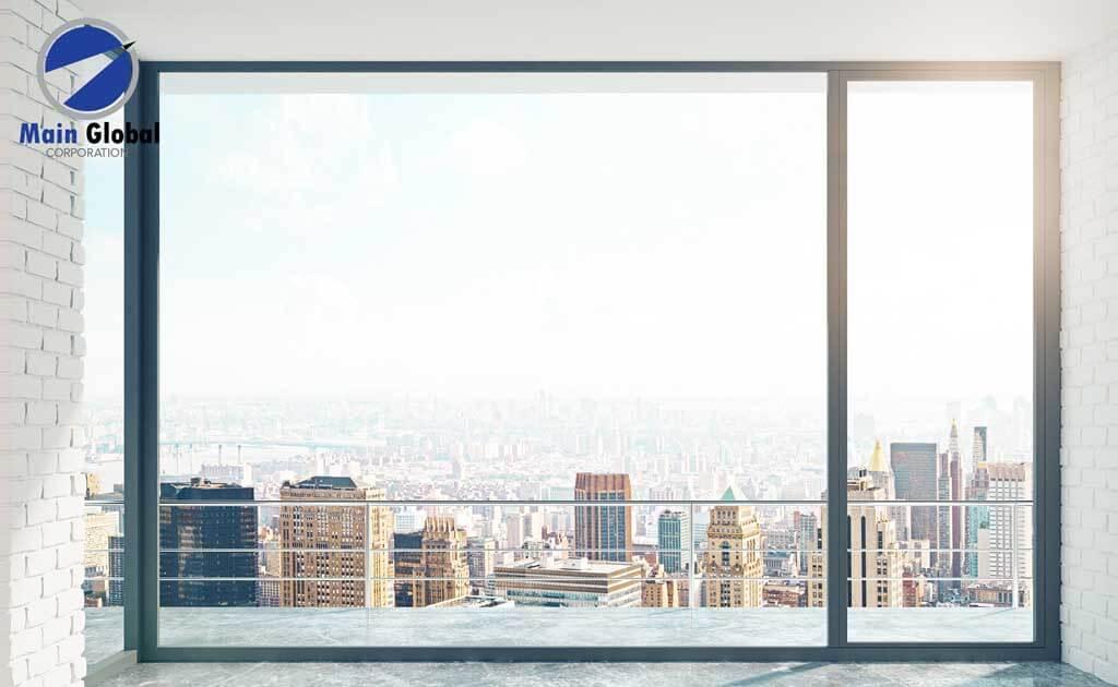 Skyline theme design zero ghosting writable wall covering