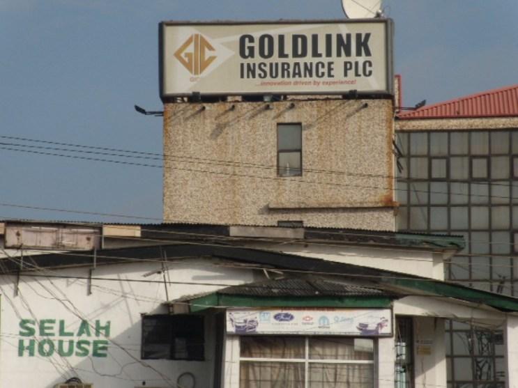 Goldlink Insurance Plc. Farcade Cleaning in progress