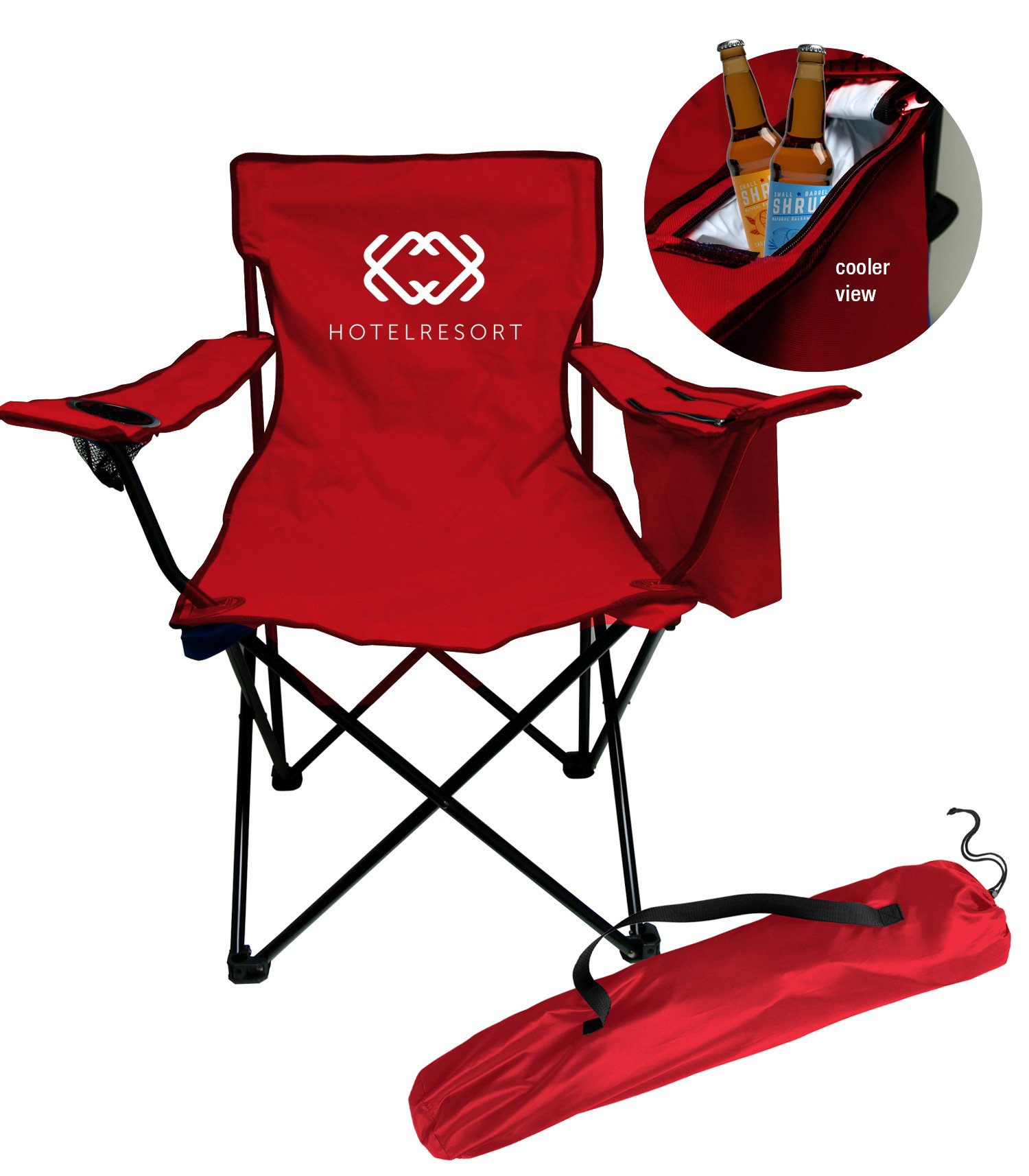 Sturdy Camping Chair Style 200cc Cooler Chair