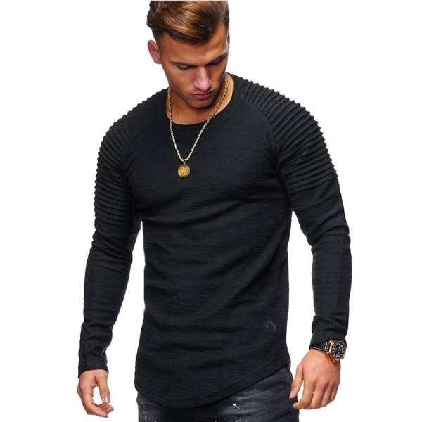 Long-sleeved casual bamboo fiber t-shirt