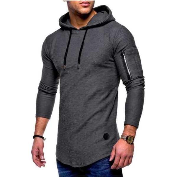 T Shirt à manches longues et capuche fibre de bambou