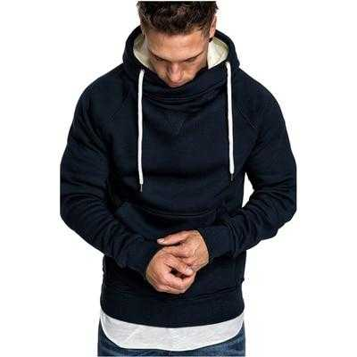 Modern design polar hooded sweatshirt for men