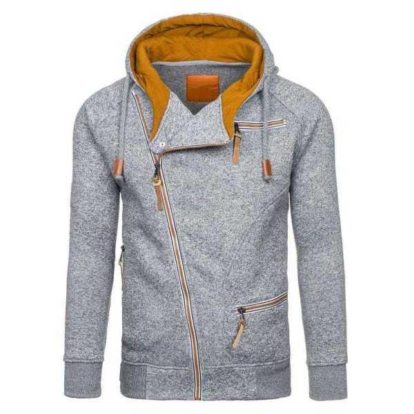 Sweat à capuche polaire décontracté zippé style streetwear